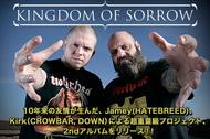 10年来の友情が生んだ、Jamey(HATEBREED)、Kirk(CROWBAR, DOWN)による超重量級プロジェクト、2ndアルバムをリリース!!