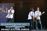 PANIC! AT THE DISCO|SUMMER SONIC 2011