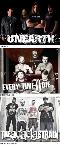 UNEARTH / EVERY TIME I DIE / THE ACACIA STRAIN来日公演決定!