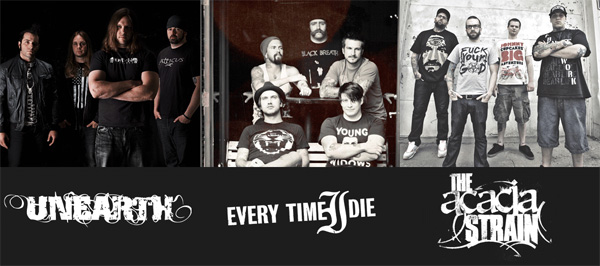 【UNEARTH ほか来日】EXTREME THE DOJO vol.29にEACH OF THE DAYS、HER NAME IN BLOOD&激ロック DJのサポートが決定!