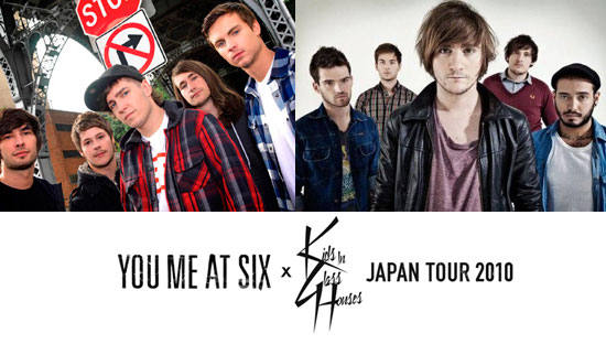 KIDS IN GLASS HOUSES & YOU ME AT SIX 来日公演決定!