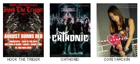 【3月の激ロック待受】HOOK THE TRIGER、CHTHONIC、CORI YARCKIN!ダウンロード無料です