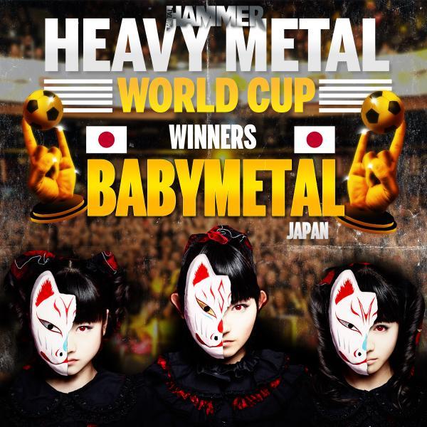 """BABYMETAL、日本代表として""""ヘヴィ・メタル・ワールドカップ""""で優勝!Metal Hammer誌主催の全世界的ネット投票企画でMACHINE HEAD、GOJIRAらを撃破!"""