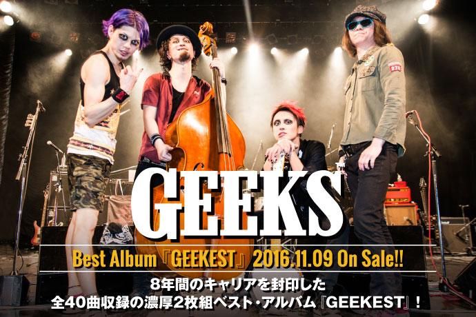 GEEKSの新作特設ページ公開!結成から8年のキャリアを封印、新曲含む全40曲を収録した濃厚2枚組ベスト・アルバムを明日リリース!11/25に下北沢にてフリー・ワンマン・ライヴも開催!