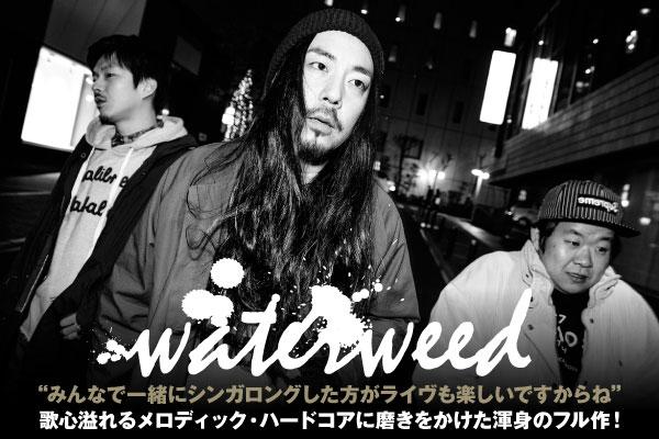 関西発ポスト・ハードコア・バンド、waterweedのインタビュー公開!より強固な3ピース・サウンドで、歌心溢れるメロディック・ハードコアに磨きをかけた渾身のニュー・アルバムをリリース!