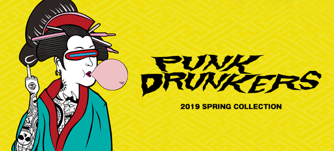 PUNK DRUNKERS(パンクドランカーズ)を大特集!大胆なカラーの切り替えが注目のスウェットをはじめ刺繍を施したTシャツやボトムスなど新作続々入荷中!
