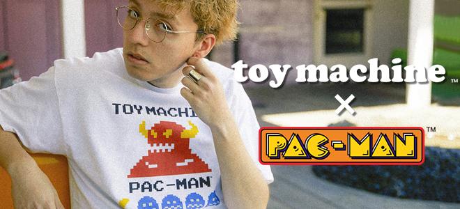 """TOY MACHINE(トイ・マシーン)からアーケード・ゲーム""""PAC-MAN""""とのコラボ・アイテムが一斉入荷!"""