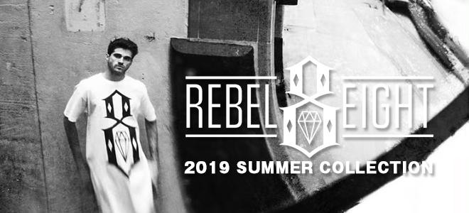 REBEL8 (レベルエイト)を大特集!タイダイ染めを施したボディに定番のブランド・ロゴを配したTシャツや、メッシュ素材のショーツなど新作続々入荷中!