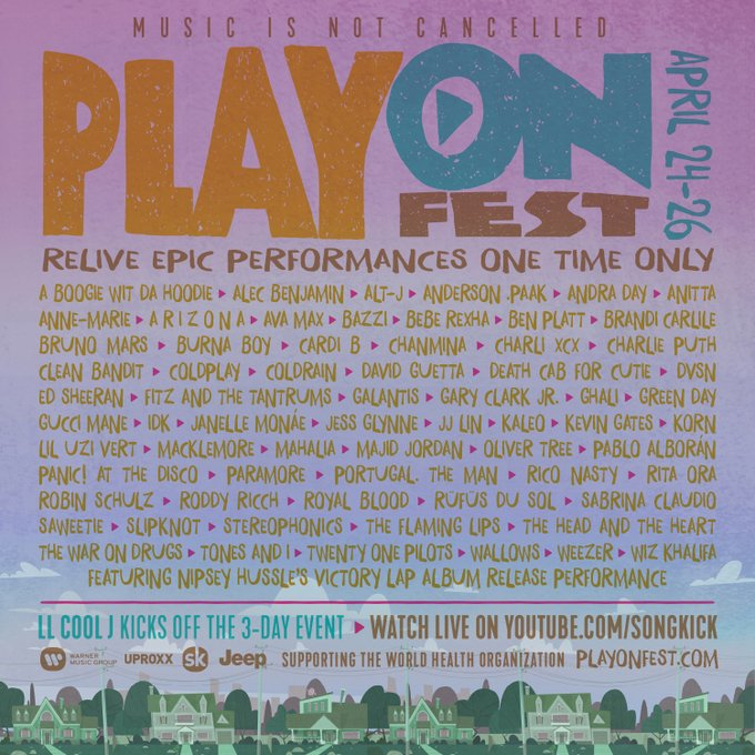 "SLIPKNOT、KORN、GREEN DAY、PARAMORE、PANIC! AT THE DISCO、coldrainら65組以上の貴重なライヴ映像を配信!ヴァーチャル音楽フェス""PlayOn Fest""開催決定!"