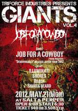 JOB FOR A COWBOY、沖縄でのライヴ決定!TRIFORCE INDUSTRIES Presents GIANTS Vol.4開催!!