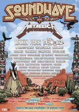 最強ラインナップ第1弾が発表されたSOUNDWAVE 2013。METALLICA、LINKIN PARK、BLINK-182など出演アーティストアイテム特集!
