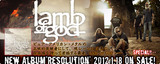 【2月来日!】エクストリーム・メタル・シーンの頂点に君臨するLAMB OF GODのニュー・アルバム特集ページをアップしました!