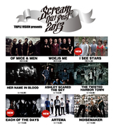SCREAM OUT FEST 2013、最終ラインナップとして、I SEE STARS、ARTEMA、EACH OF THE DAYSが出演決定!