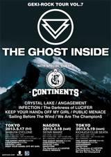【当日券有り!】THE GHOST INSIDE、CONTINENTS来日!激ロックTOUR vol.7本日最終日、吉祥寺CLUB SEATA公演開催!