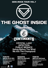 THE GHOST INSIDE、CONTINENTS来日!激ロックTOUR VOL.7のWEB先行予約を本日より受付開始!
