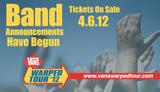 WARPED TOUR 2012にCHUNK!、MOTIONLESS IN WHITE、BORN OF OSIRISら6バンドが追加!