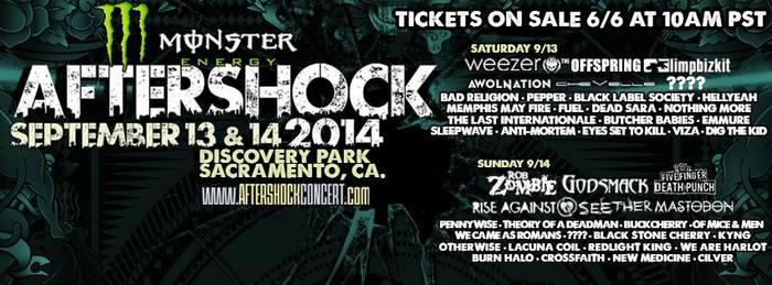 """カリフォルニア最大級フェス""""AFTERSHOCK 2014""""に日本からCrossfaithの出演が決定!LIMP BIZKIT、THE OFFSPRING、ROB ZOMBIE、FFDPら豪華ラインナップ!"""