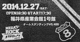 """Dragon Ash、ストレイテナーが出演する福井県最大のロック・イベント""""MEGA ROCK 2014""""、最終ラインナップとして10-FEET、NUBOの出演が決定!"""
