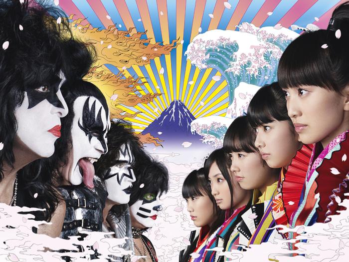 ももいろクローバーZ vs KISS、1/28にリリースするコラボ・シングル『夢の浮世に咲いてみな』のジャケット写真公開!