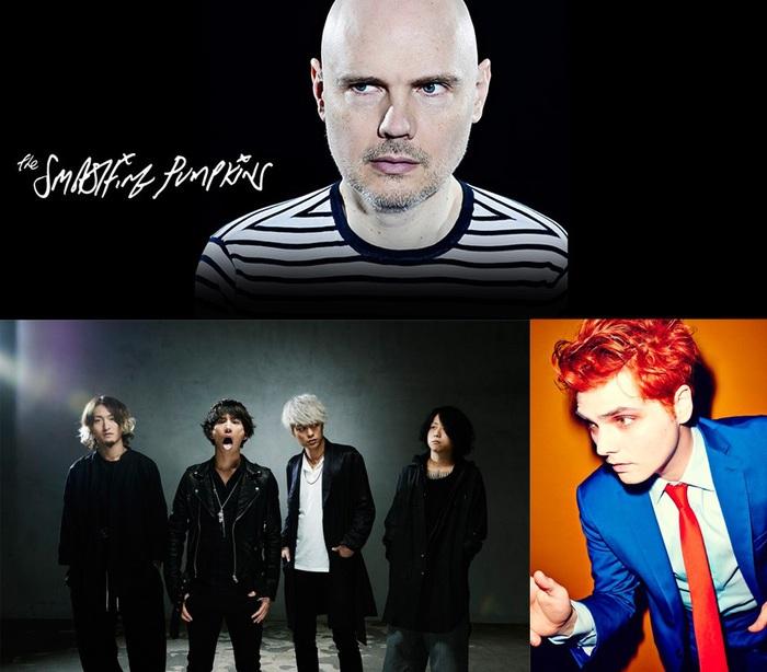 "ONE OK ROCK&Gerard Way、""Soundwave Touring""にてTHE SMASHING PUMPKINSのサポート・アクトを務めることが決定!"