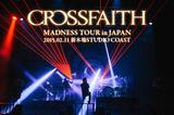 """Crossfaithのライヴ・レポートを公開!ARCHITECTSとラスベガスを迎え開催された""""MADNESS TOUR in JAPAN""""新木場STUDIO COAST公演をレポート!"""
