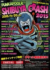 """9/20に4年ぶりに開催される""""PUNKAFOOLIC! SHIBUYA CRASH 2015""""、最終アーティストにCOUNTRY YARD、G-FREAK FACTORY、RADIOTSら決定!"""