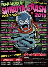 "NAMBA69、SECRET 7 LINE、COUNTRY YARDらが出演する9/20開催の""PUNKAFOOLIC! SHIBUYA CRASH 2015""、タイムテーブルを公開!"