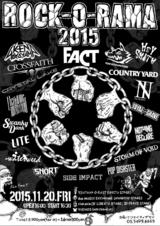 """FACT、ラスト・ライヴとなる主催イベント""""ROCK-O-RAMA 2015""""の最終ラインナップにCrossfaith、The BONEZ、Crystal Lakeら8組決定!"""