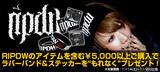 【ライヴ・キッズ注目ブランド!】RIPDWのアイテム5,000円以上ご購入でラババン&ステッカーをプレゼント!