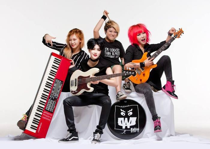 韓国発の若き4人組ガールズ・ロック・バンド WALKING AFTER U、12月にジャパン・ツアー開催決定!