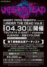 """ANGRY FROG REBIRTH主催サーキット・イベント""""UNDER THE DEAD""""、第1弾出演者にa crowd of rebellion、AIR SWELL、ROACH、「Story of Hope」ら10組決定!"""