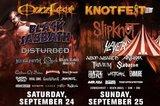 OZZFEST × KNOTFEST、9月にカリフォルニアにて共同開催決定!BLACK SABBATH、SLIPKNOT、SLAYERらに加え、日本からはMWAM、SiMが参戦!