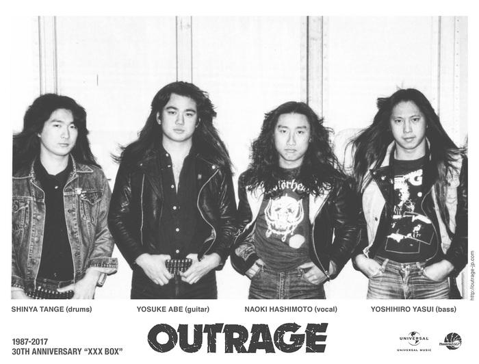 OUTRAGE、2/15にリリースする30周年記念ボックス・セット『XXX BOX』のヴィジュアル&DVD詳細発表!