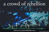 a crowd of rebellionのライヴ・レポート公開!1stフル・アルバムを引っ提げた全国ツアー追加公演、1曲目からダイバー続出の熱いテンションで飛ばした恵比寿公演をレポート!
