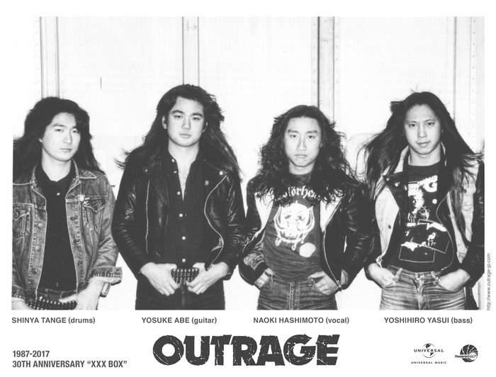 "OUTRAGE、7/23に川崎CLUB CITTA'にて開催する""極悪祭 2017""の詳細発表! ゲストにANGEL WITCH、DOOMら出演!"