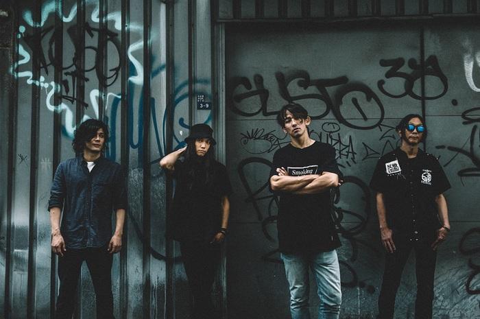 "Dragon AshのHIROKI(Gt)らによる新バンド""ROS""、10/18リリースの1stミニ・アルバムより「GOD OF ROCK」MV公開! Kj(Dragon Ash)、TAKUMA(10-FEET)らよりコメントも!"