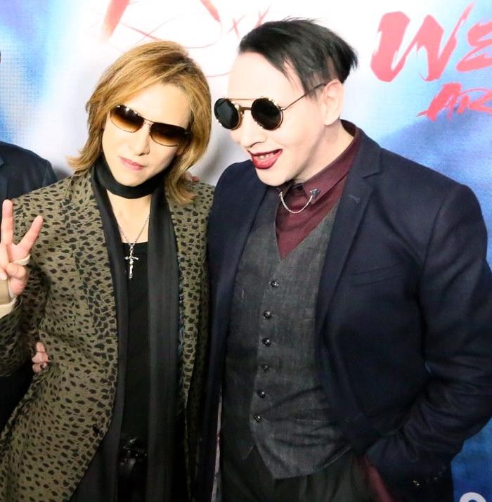"""YOSHIKI(X JAPAN/Dr/Pf)、MARILYN MANSONとレコーディング中であることが明らかに! 映画""""WE ARE X""""プレミア・ワールド・ツアー動画公開!"""