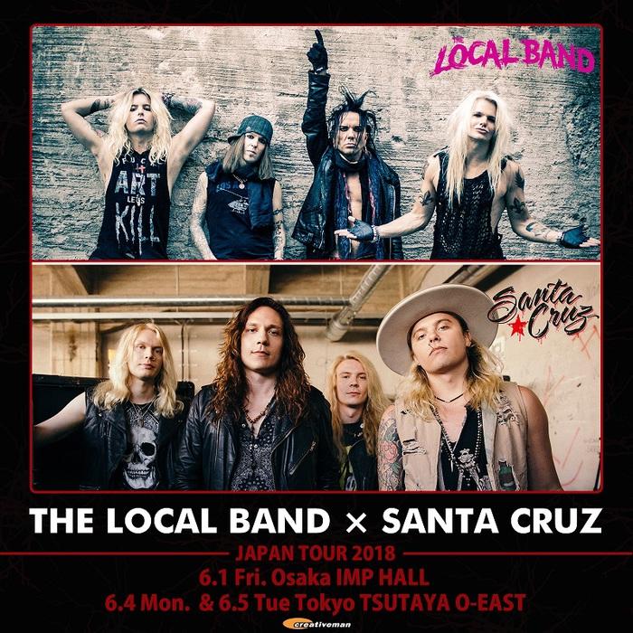Alexi Laiho(COB)率いるハード・ロック・カバー・バンド THE LOCAL BAND&フィンランドの若きロックンローラー SANTA CRUZ、6月に東阪ツアー開催決定!