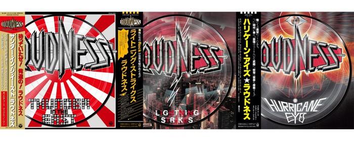 LOUDNESS、バンド初のピクチャー盤アナログ3作品を本日7/11リリース!樋口宗孝モデルのシンバル限定発売も!