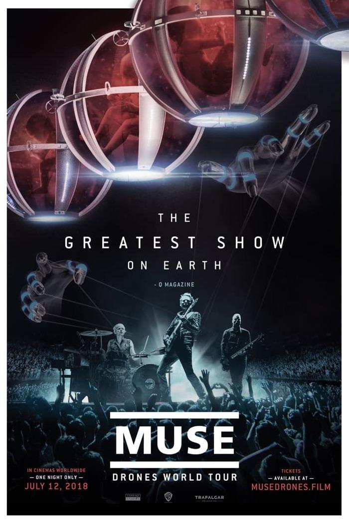 "MUSE、ライヴ・フィルム""MUSE: Drones World Tour""より「Psycho」ライヴ映像公開!"