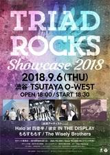 """9/6に""""TRIAD""""主催イベント""""TRIAD ROCKS Showcase 2018""""開催決定!出演アーティストに彼女 IN THE DISPLAYら発表!"""