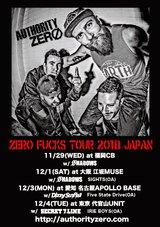 USアリゾナ州のメロディック・パンク・バンド AUTHORITY ZERO、11/29より開催するジャパン・ツアーのゲスト・バンドにSECRET 7 LINEら追加決定!