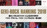 2018年の激ロック年間ベストを公開!激ロックDJ&ライター16名によるベスト・アルバム&ソング・ランキングや、ベストMV、ライヴ、グループなどを一挙発表!