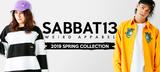 SABBAT13からアメコミ・タッチの目がブランドらしさを演出したパーカーやボーダー・ロンT、Subciety (サブサエティ)からはL/Sシャツが新入荷!