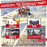 ex-SKALL HEADZのメンバーらによる新バンド MAYSON's PARTY、5/25渋谷THE GAMEにて活動開始1周年記念イベント開催決定!ROACH、Mrs.WiENER、frailら出演!