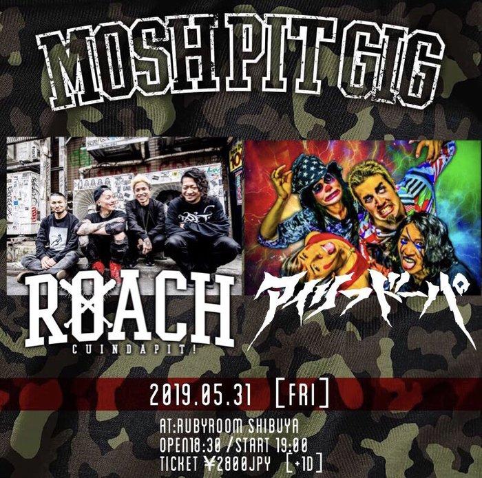"ROACH、5/31渋谷 RUBY ROOMにて主催イベント""MOSH PIT GIG""開催!対バンにAiliph Doepa決定!"