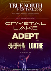 "Crystal Lake主催フェス""TRUE NORTH FESTIVAL 2019""、第1弾ゲストにADEPT、SWORN IN、LOATHEの3組決定!"