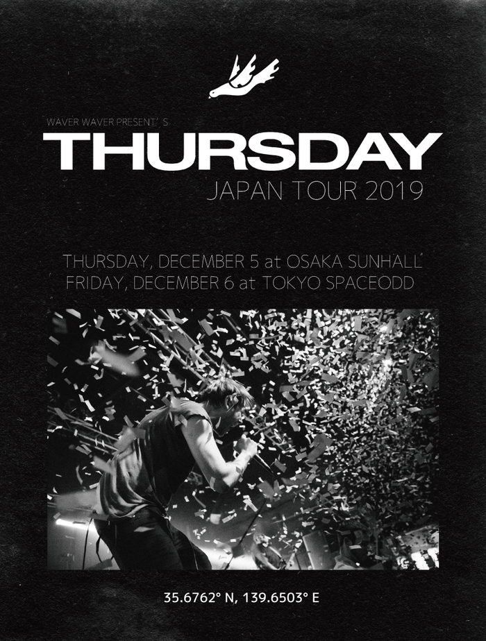 USのエモ/ポスト・ハードコア・シーンを代表するバンド THURSDAY、キャリア初の単独来日公演を12月東阪で開催決定!