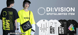 DI:VISION(ディビジョン)を大特集!ネオン・カラーを採用したゲキクロ限定Tシャツやフラップが特徴的なタクティカル・パンツなど新作続々入荷中!