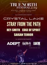 "Crystal Lake主催""TRUE NORTH FESTIVAL 2019""、第2弾ゲストにSTRAY FROM THE PATH、ヘイスミら決定!""True North Japan & China Tour"" 開催も!"